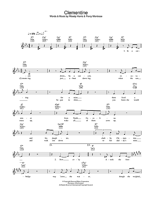 Clementine (Lead Sheet / Fake Book)