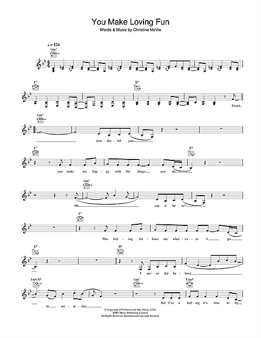 You Make Loving Fun Sheet Music