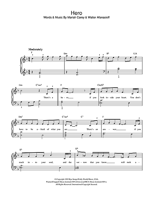 Hero Sheet Music