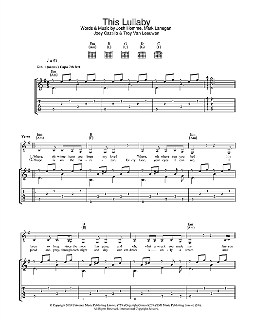 This Lullaby Sheet Music