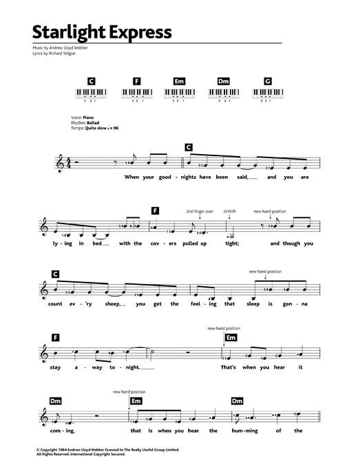 Starlight Express Sheet Music