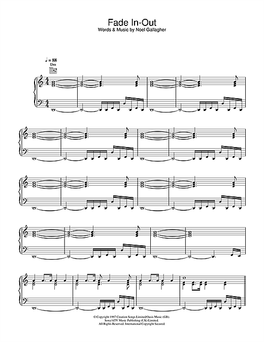 Fade In-Out Sheet Music