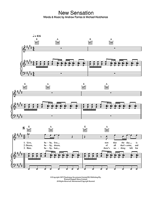 New Sensation Sheet Music