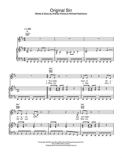 Original Sin Sheet Music