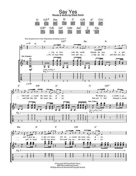 Say Yes (Guitar Tab)