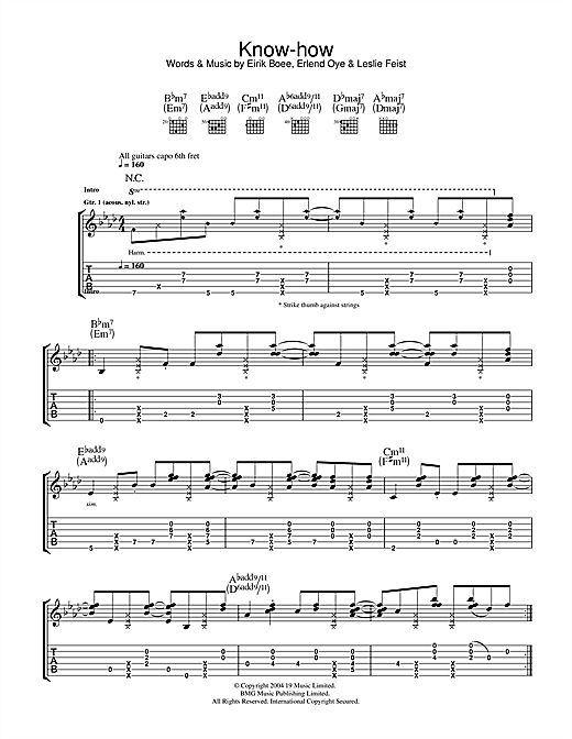 Know-How Sheet Music