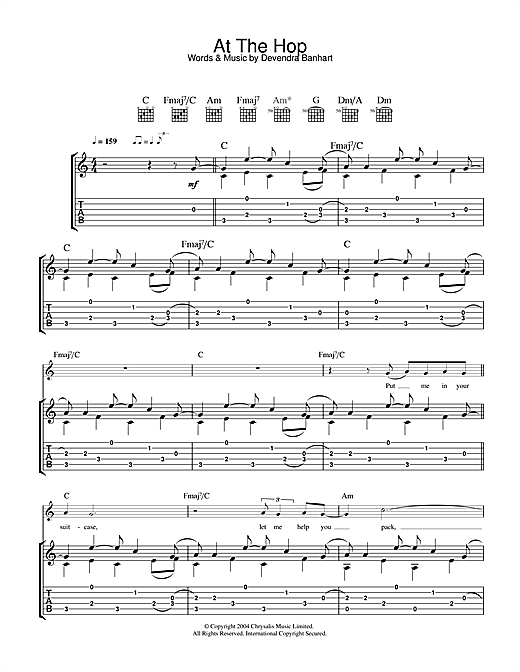At The Hop (Guitar Tab)