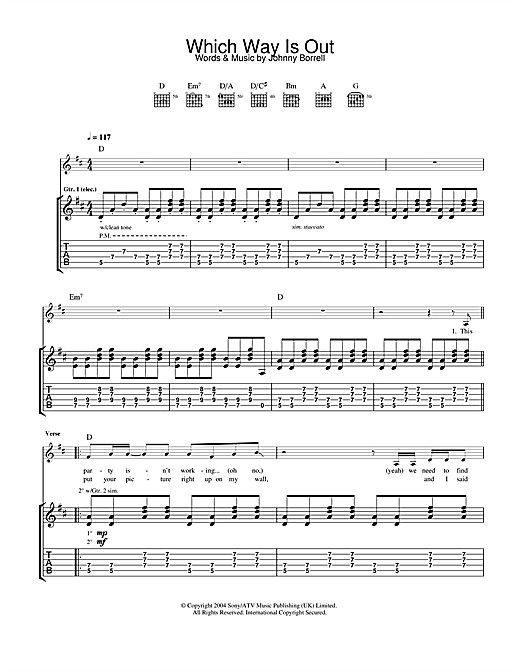 Which Way Is Out Sheet Music
