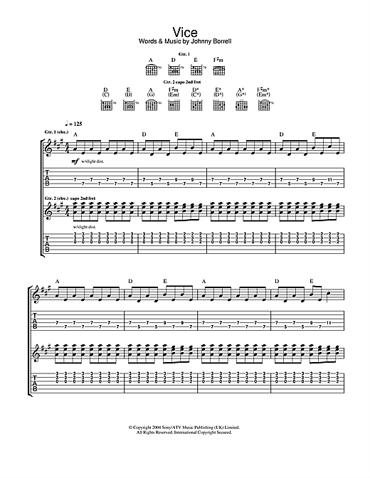 Vice (Guitar Tab)