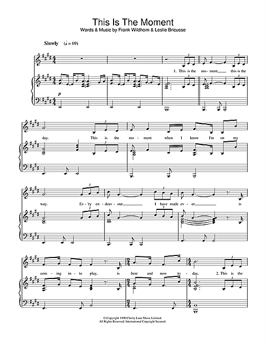 This Is The Moment Sheet Music