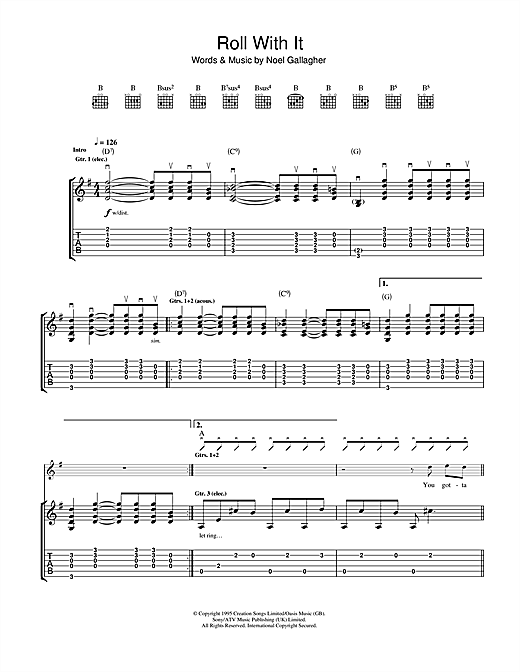 Roll With It (Guitar Tab)