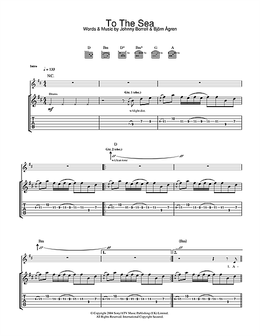To The Sea Sheet Music