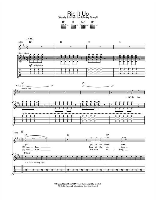 Rip It Up Sheet Music