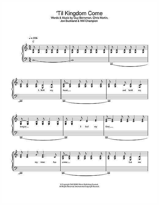 'Til Kingdom Come Sheet Music