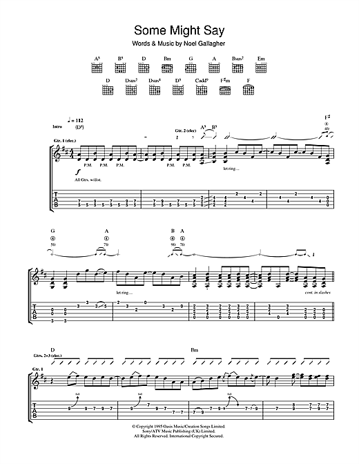 Some Might Say (Guitar Tab)