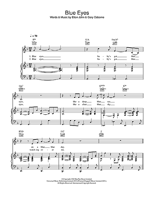 Blue Eyes Sheet Music