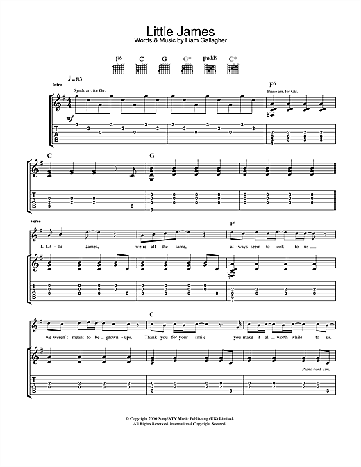 Little James Sheet Music
