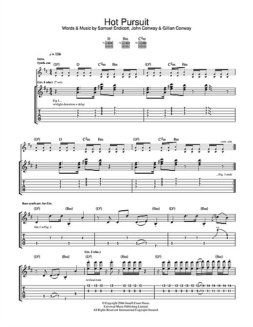 Hot Pursuit Sheet Music