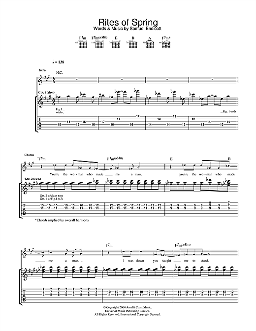 Rites Of Spring Sheet Music