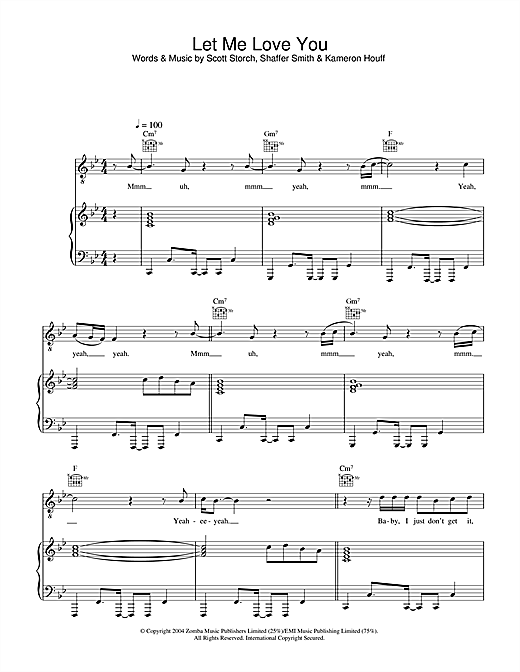Let Me Love You Sheet Music