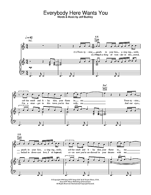 Everybody Here Wants You (Guitar Tab)