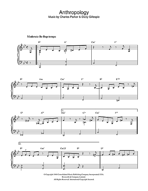 Anthropology Sheet Music
