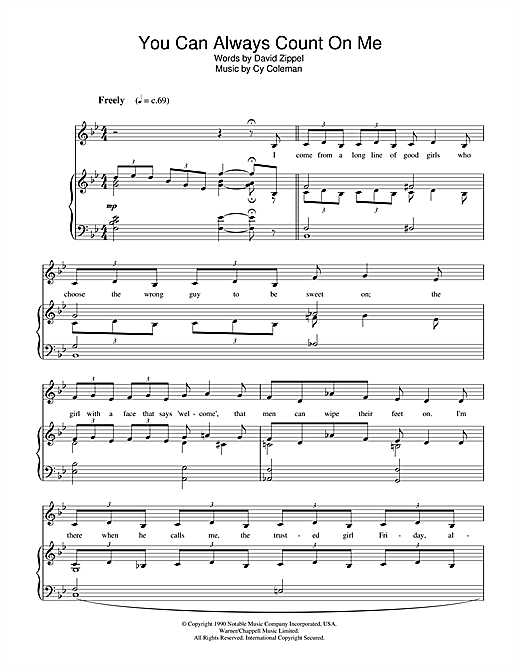 You Can Always Count On Me (from City Of Angels) Sheet Music