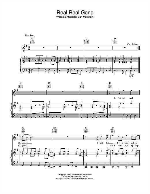 Real Real Gone Sheet Music