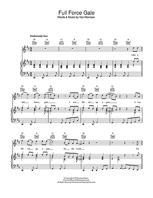 Full Force Gale Sheet Music
