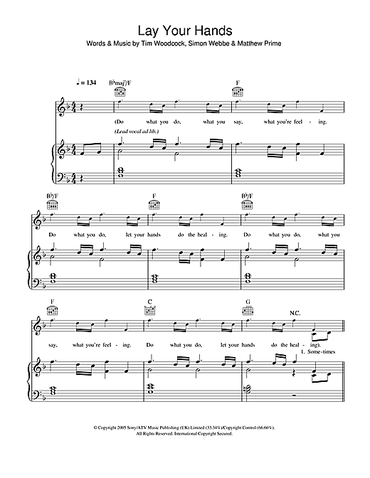 Lay Your Hands Sheet Music