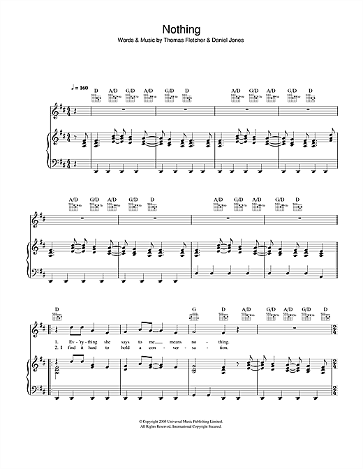 Nothing Sheet Music