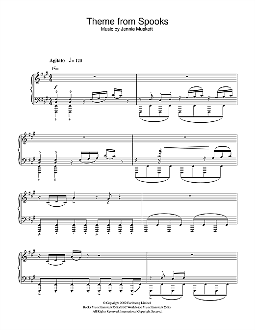 Theme from Spooks Sheet Music
