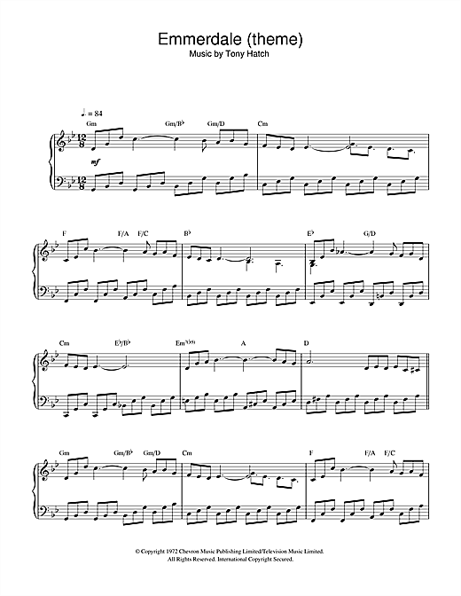 Emmerdale (theme) Sheet Music