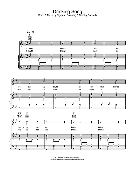Drinking Song (from The Student Prince) Sheet Music