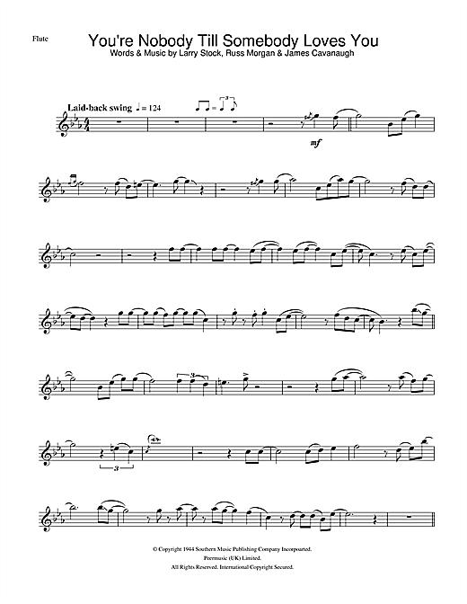 You're Nobody Till Somebody Loves You Sheet Music