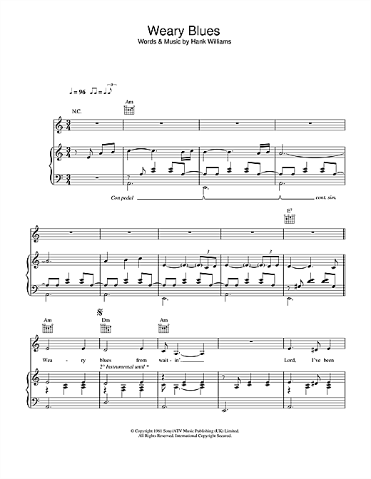 Weary Blues Sheet Music