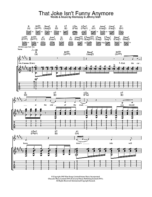 That Joke Isn't Funny Anymore Sheet Music