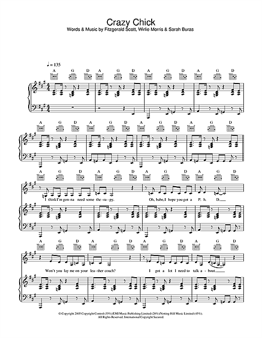 Crazy Chick Sheet Music
