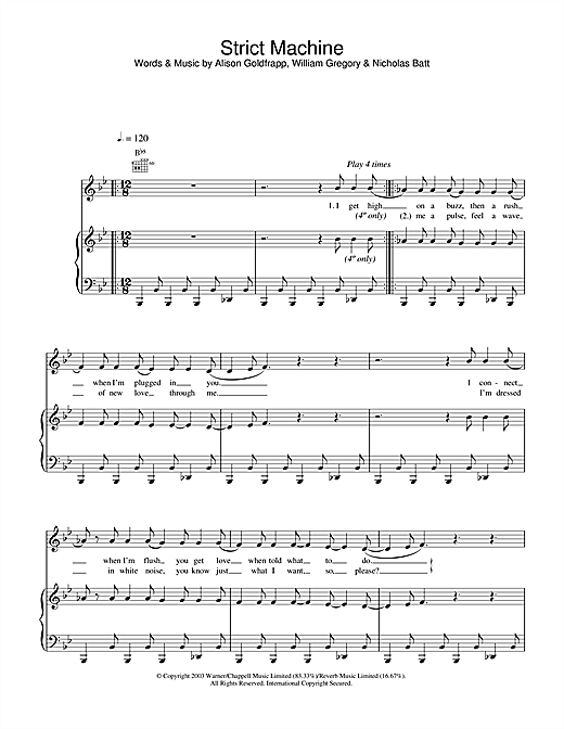 Strict Machine Sheet Music