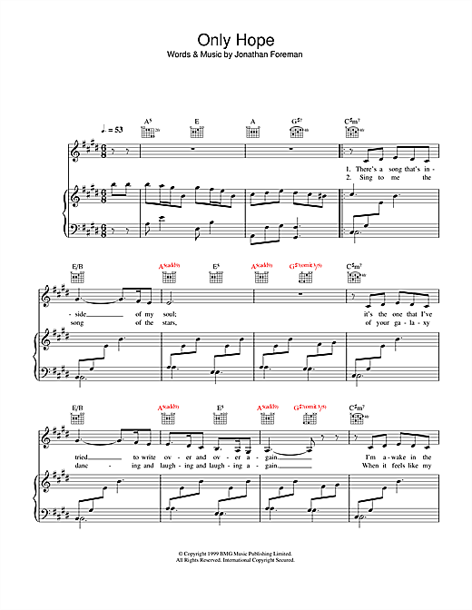 Only Hope Sheet Music