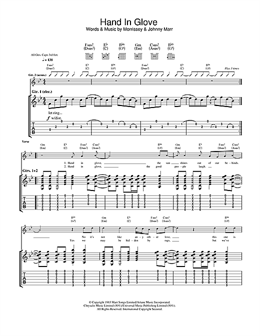 Hand In Glove (Guitar Tab)