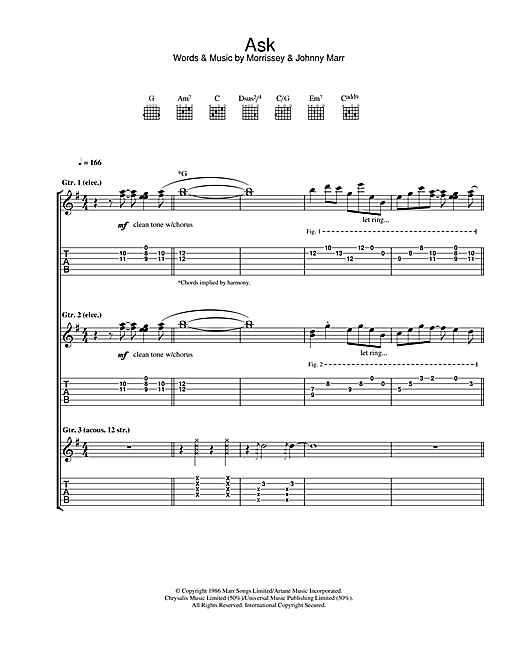 Ask Sheet Music