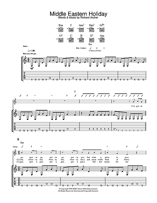Middle Eastern Holiday (Guitar Tab)