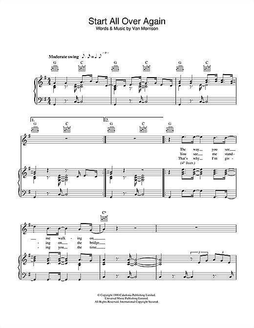 Start All Over Again Sheet Music