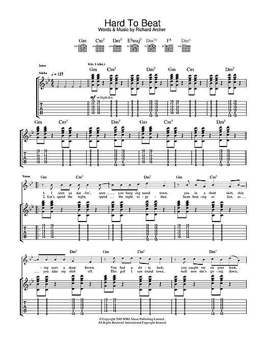 Hard To Beat Sheet Music