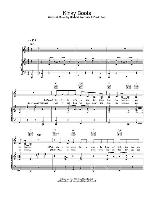 Kinky Boots Sheet Music