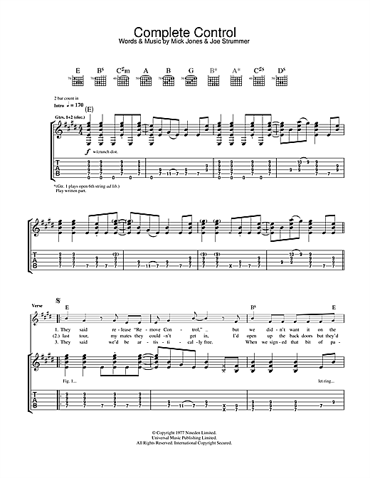 Complete Control Sheet Music