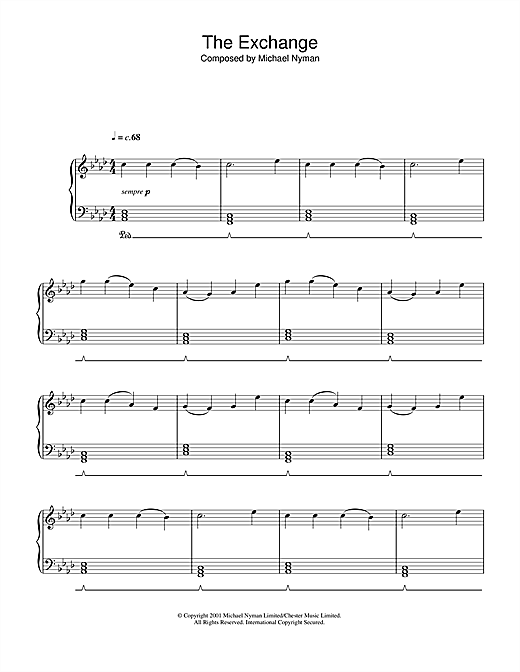 The Exchange (from The Claim) Sheet Music