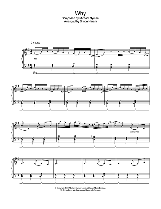 Why? Sheet Music
