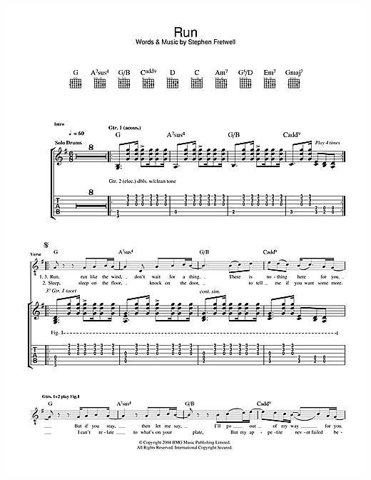 Run (Guitar Tab)
